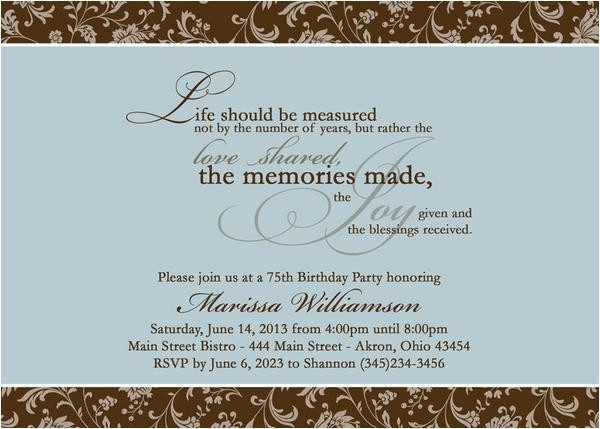 Birthday Invite Wording for Adults Adult Photo Birthday Party Invitation T Any Colors