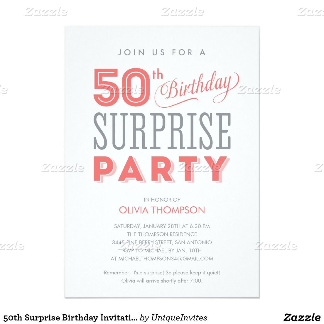 Birthday Invite Wording for Adults Surprise Birthday Party Invitations Templates Free