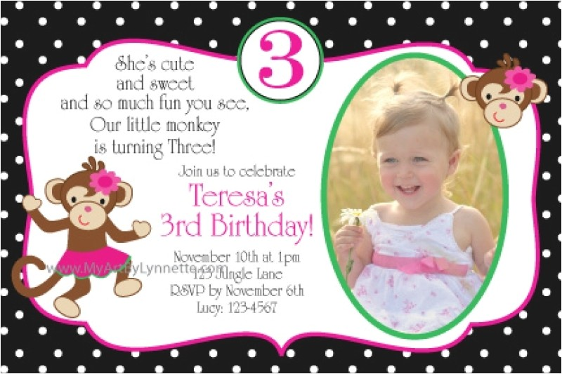 birthday invitation cards 3 year old