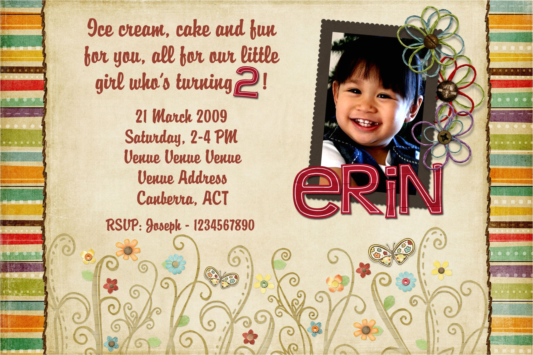 2 year old birthday invitations
