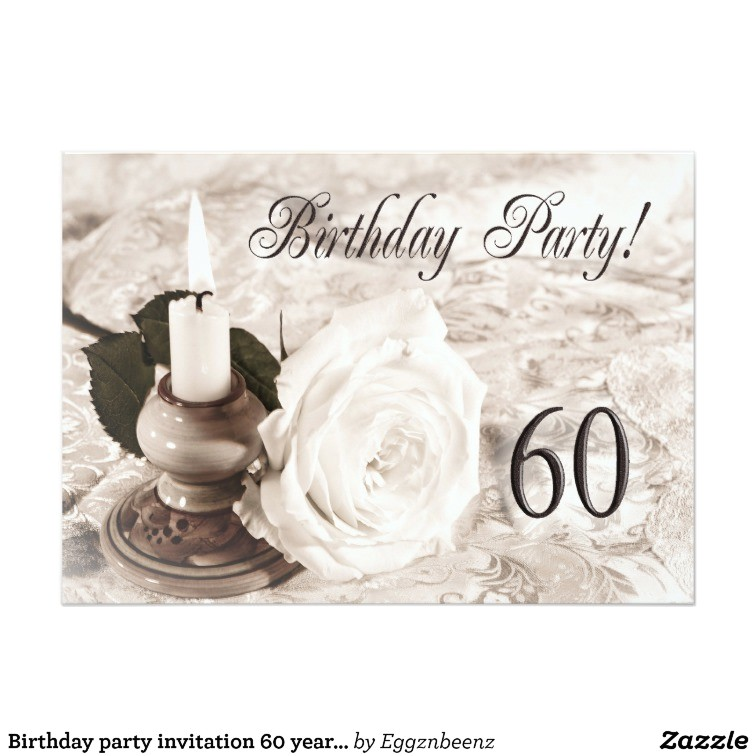 birthday party invitation 60 years old