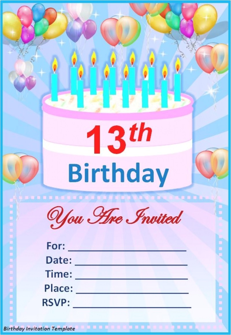 birthday invitations templates