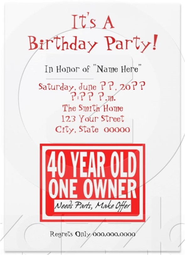 funny birthday invites wording and templates