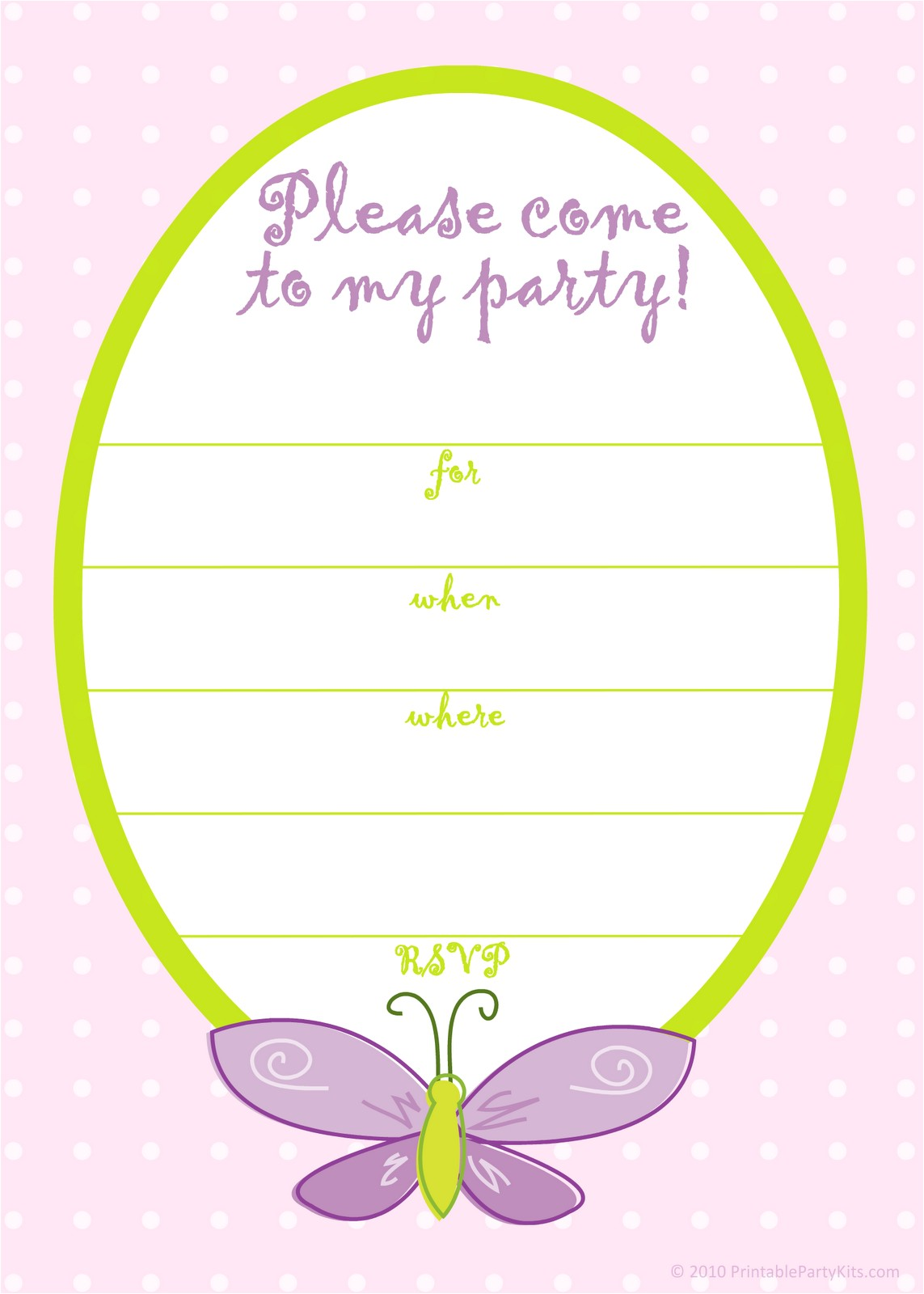 best birthday card invitation template with butterfly plus purple letterings
