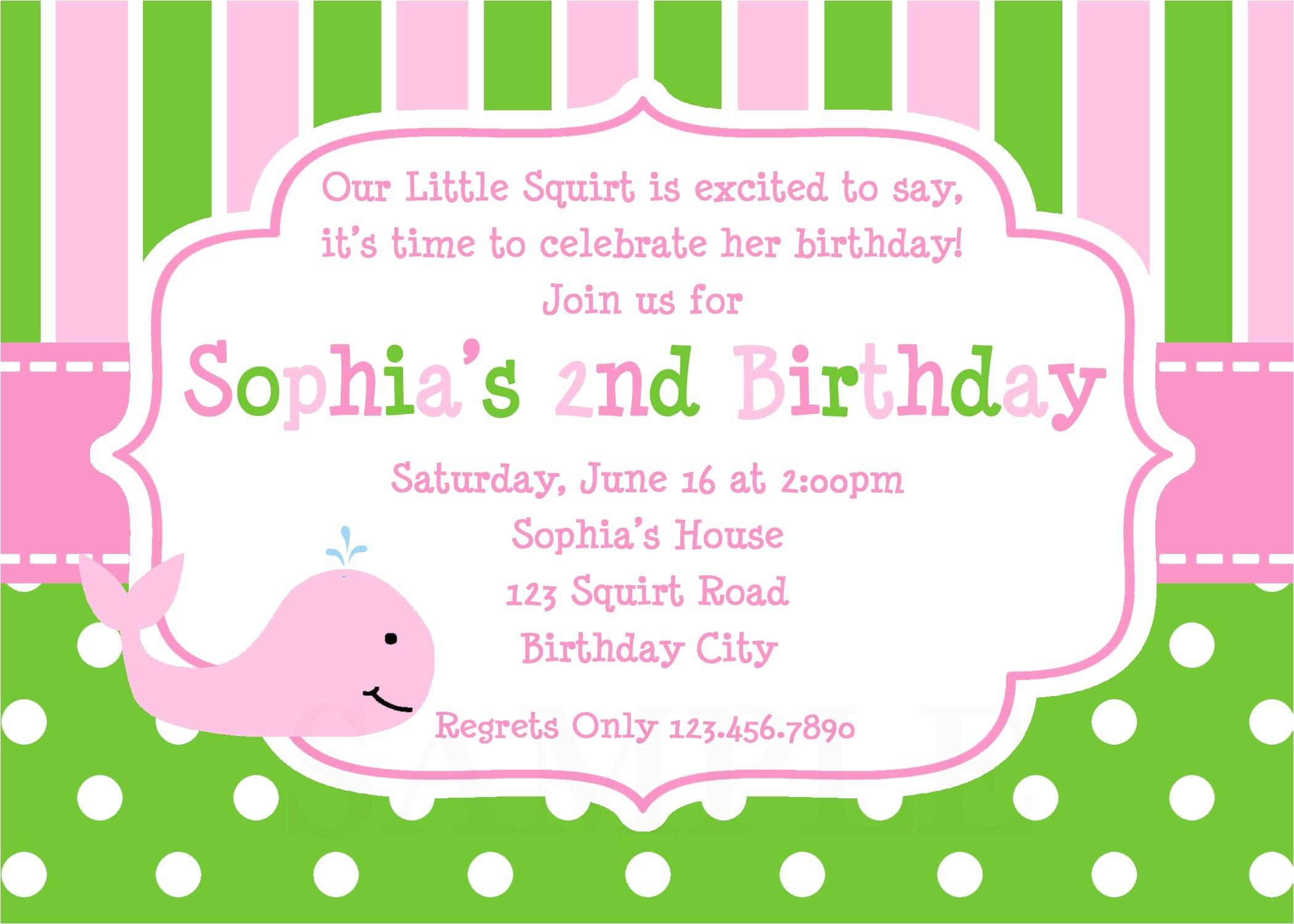 invitation birthday card templates free