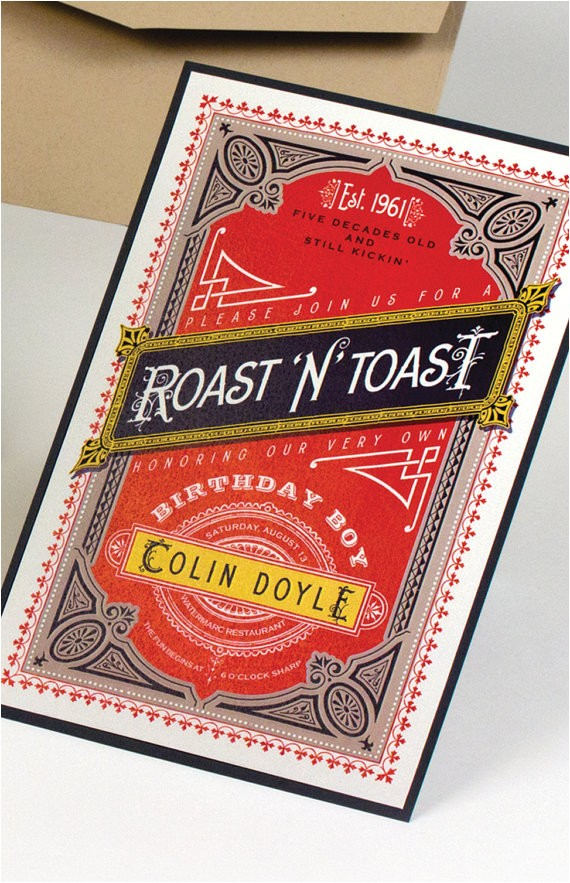 roast and toast birthday invitation