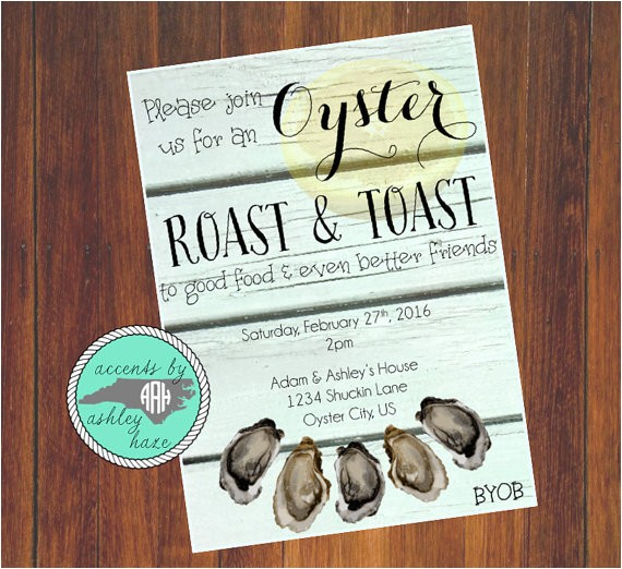 oyster roast invitation oyster roast