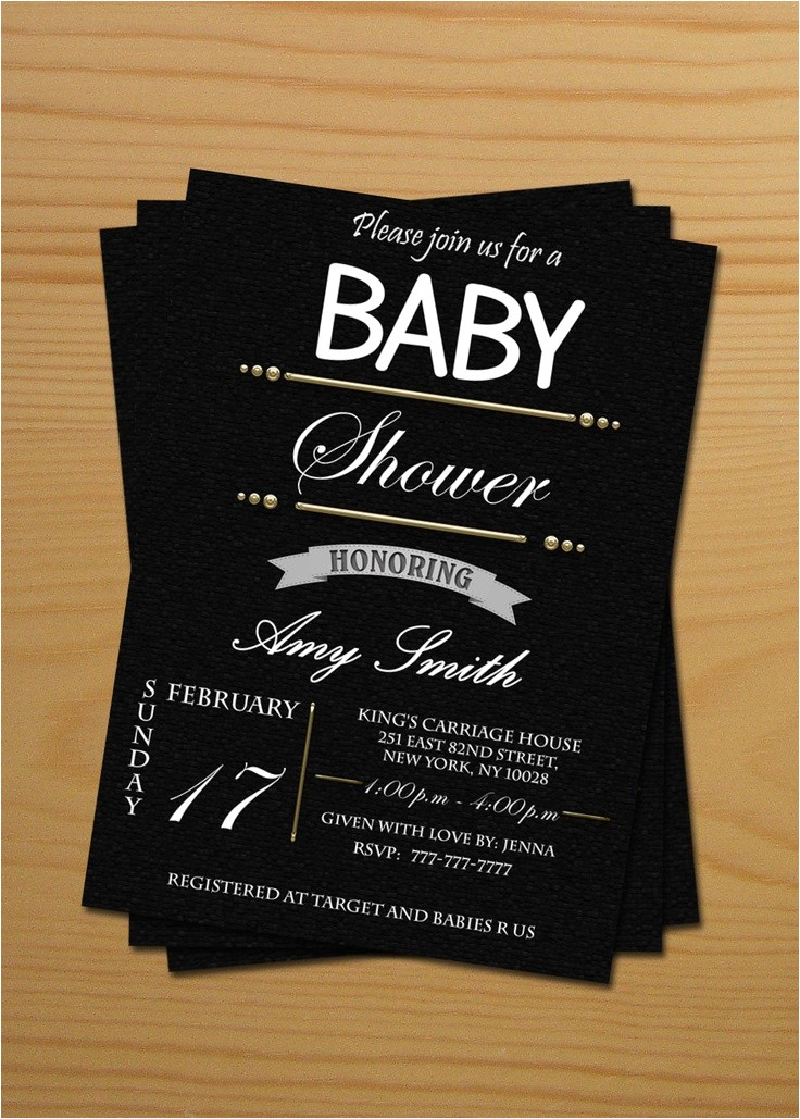 post black and white printable baby cards