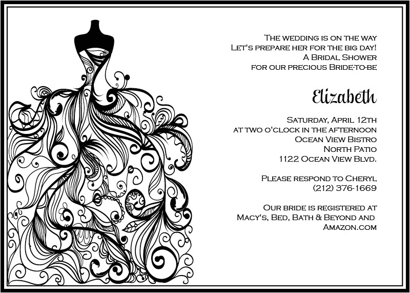 post black and white printable invitations