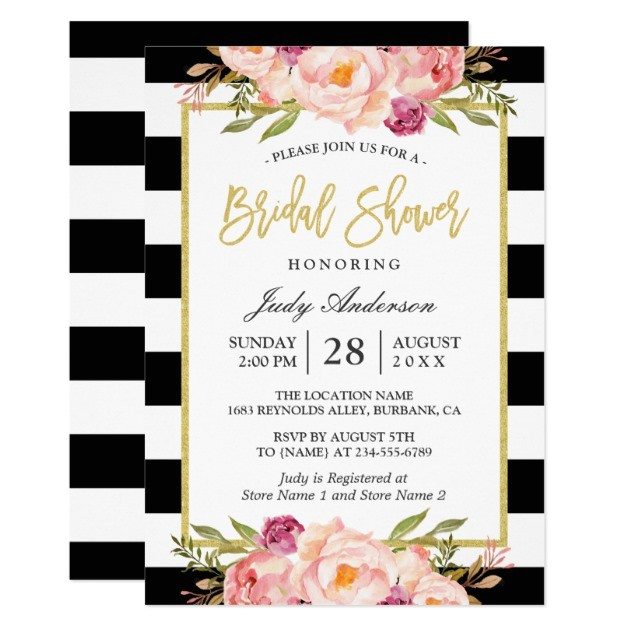 24 inspiring black and white bridal shower invitations