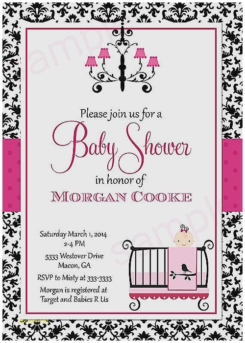red black and white baby shower invitations