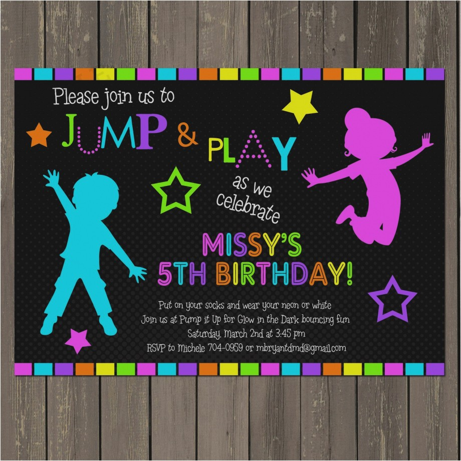great of how to make glow in the dark party invitations birthday 4b3bfd