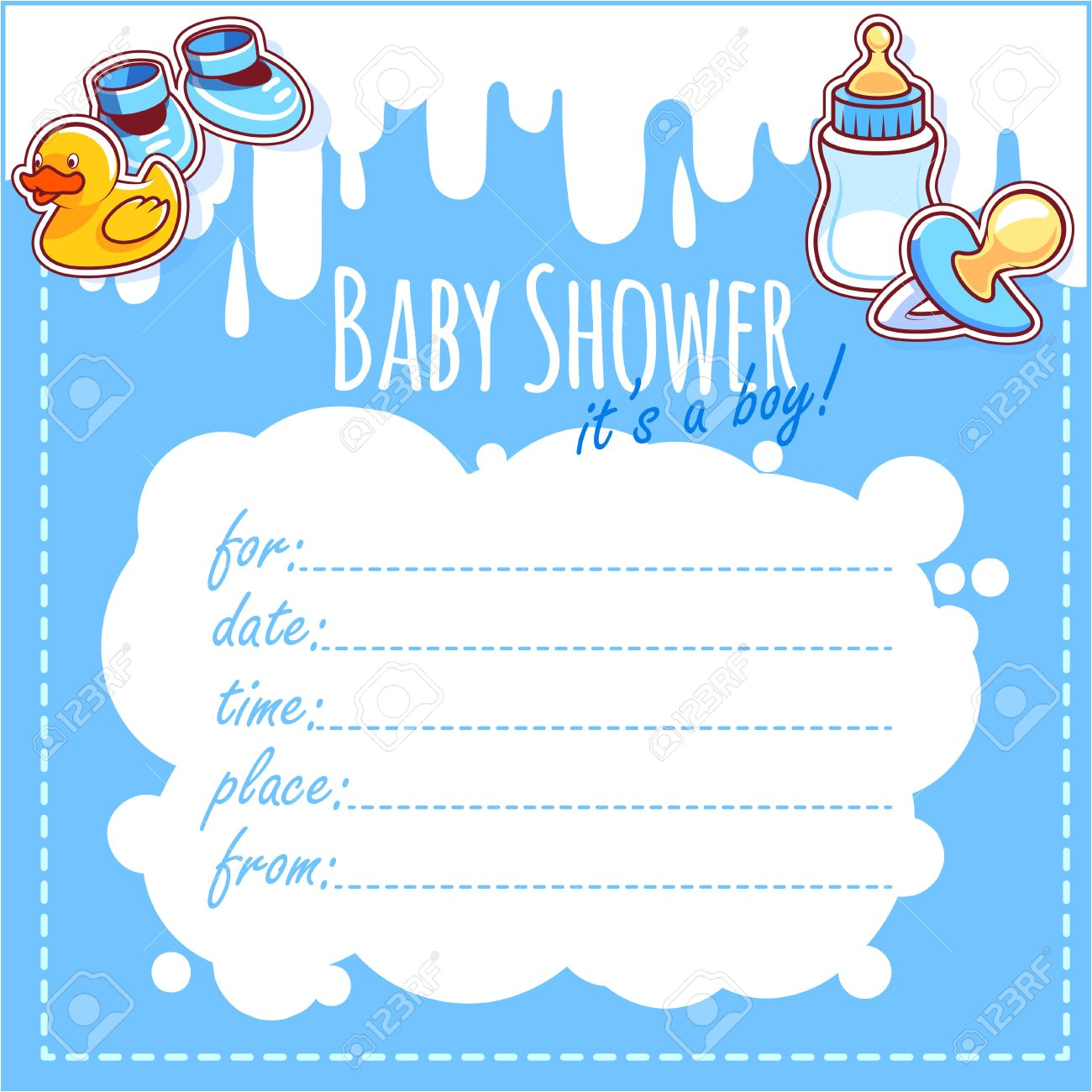 blank baby shower invitation