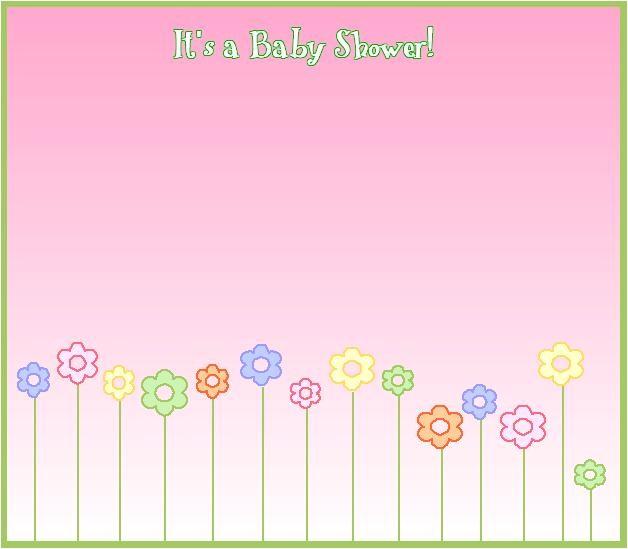 blank templates baby shower invitations