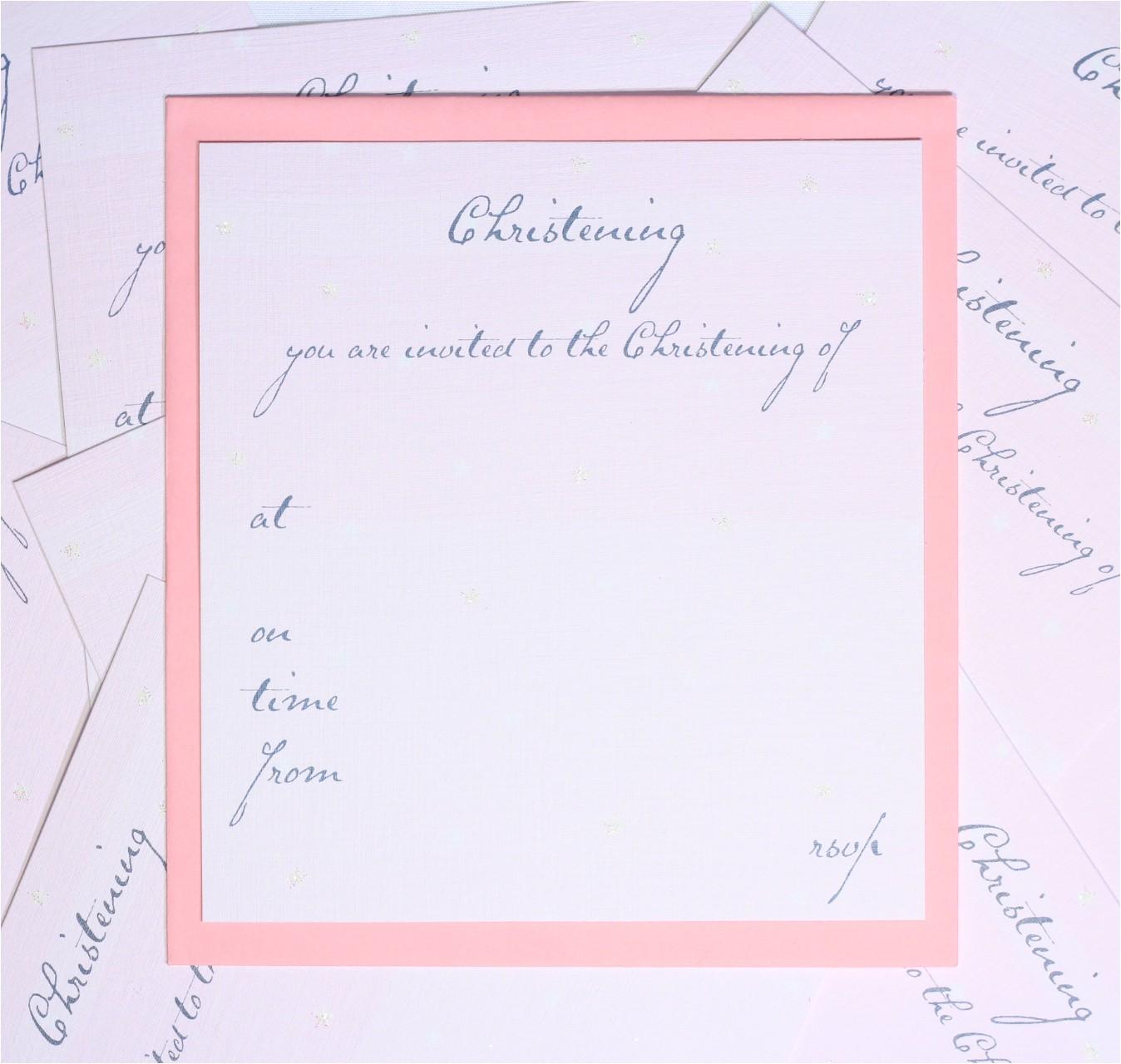 blank christening invitation card design