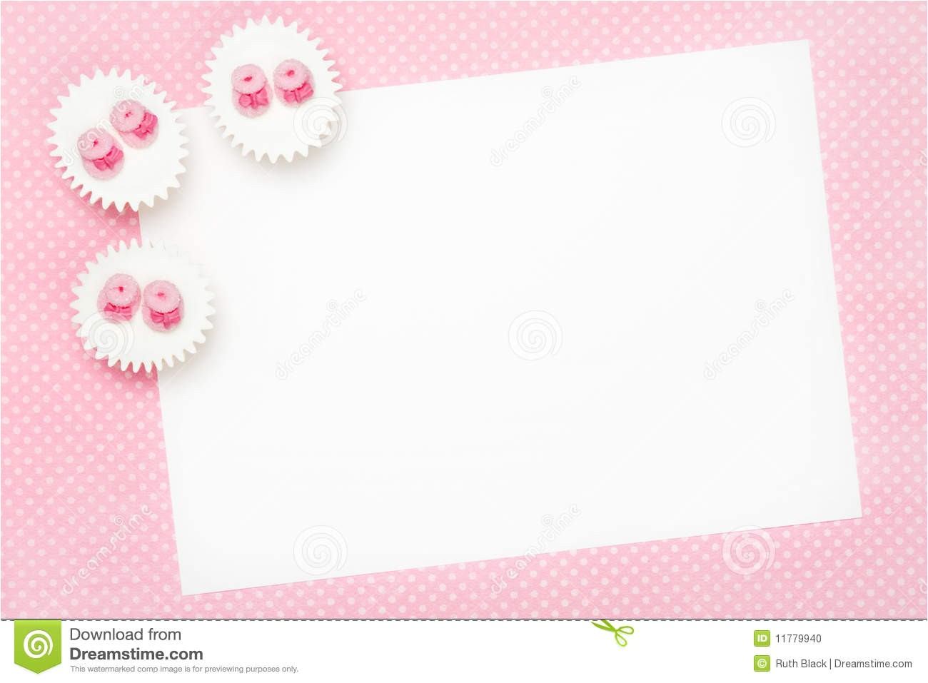 blank christening invitations design