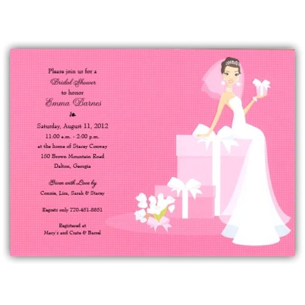 bridal shower invitations blank