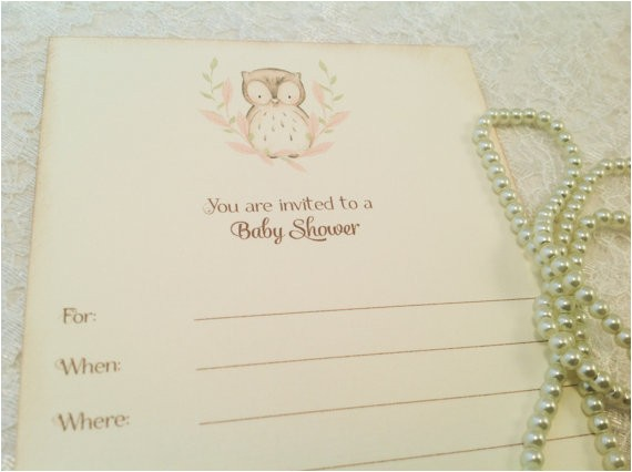 blank baby shower invitations owl baby