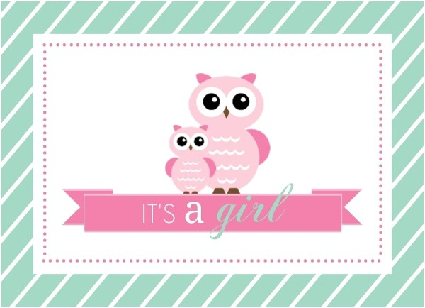mint and pink owls girl baby shower fill in the blank invitation