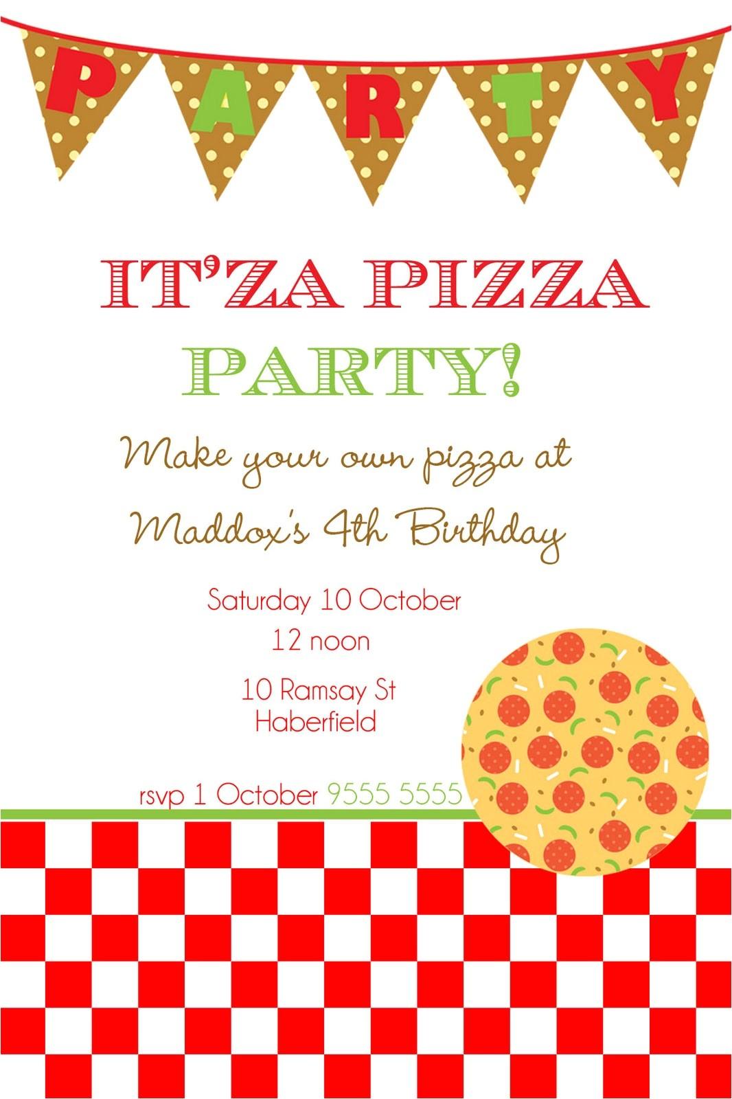 pizza party invitation template