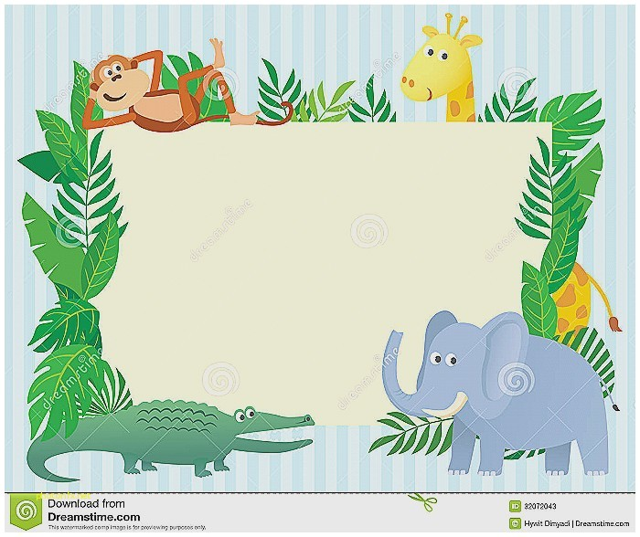 blank safari baby shower invitations