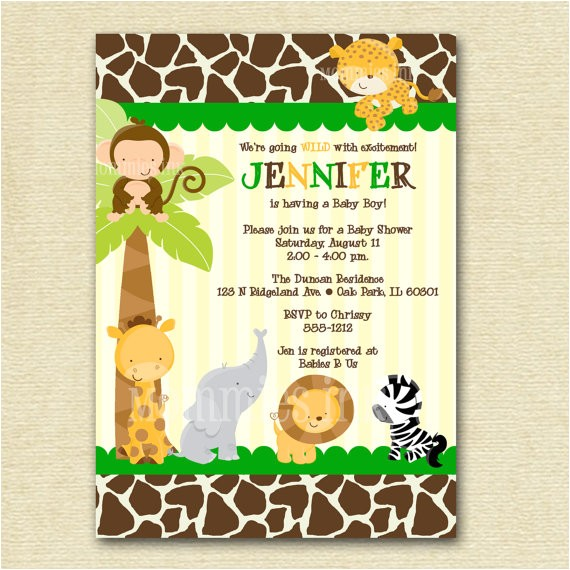 innovative safari baby shower blank invitations at luxurious baby