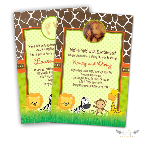 safari baby shower invitations blank