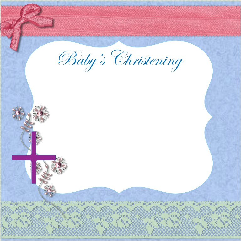 background for christening invitation card