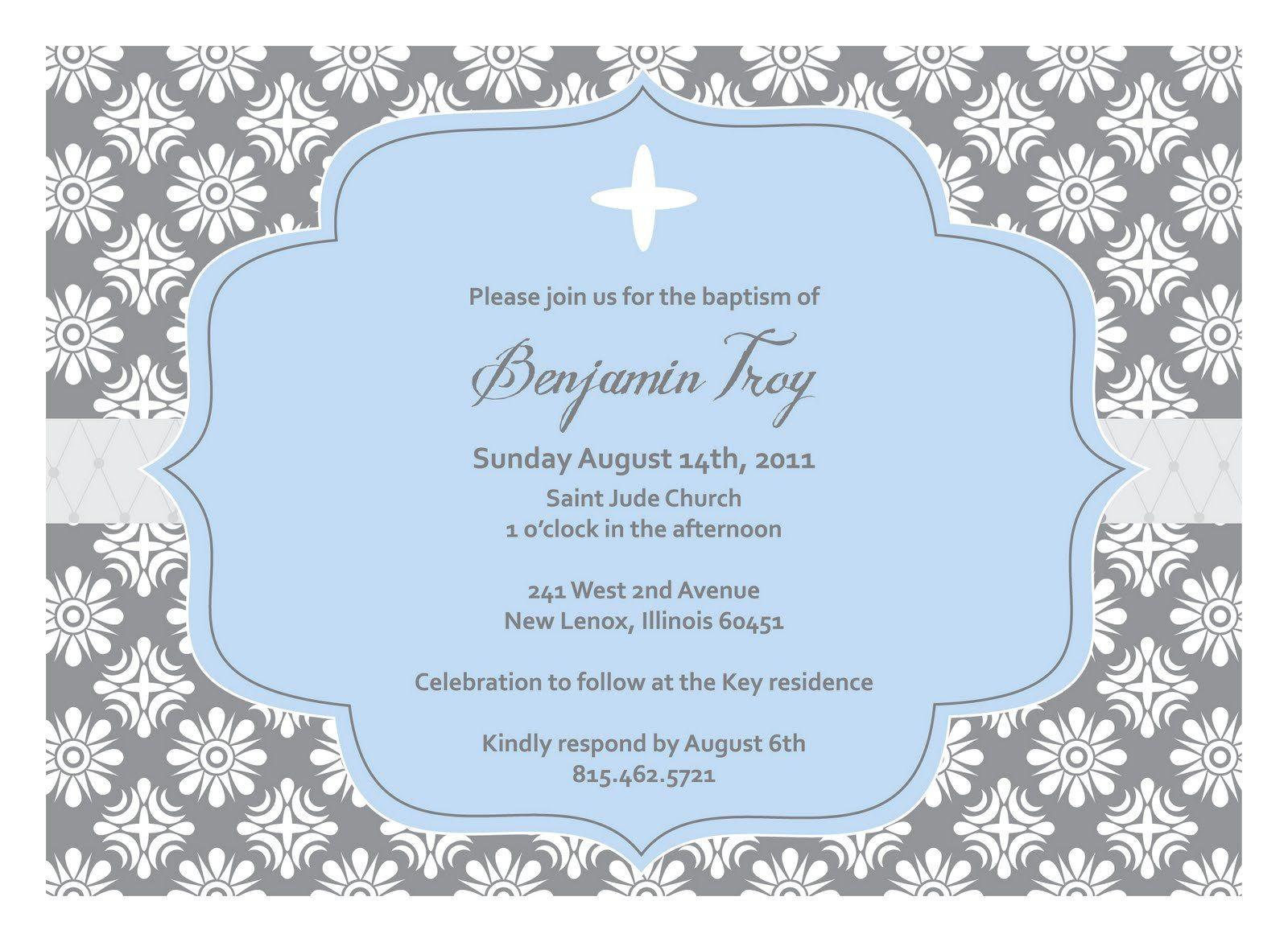 Blank Sample Of Baptismal Invitation Christening Invitation Blank Template