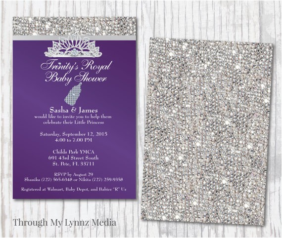 Bling Baby Shower Invitations Bling Baby Shower Invitations Diamond Royalty Baby Shower