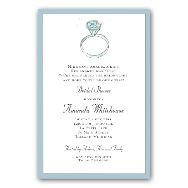 bridal shower invitations with bling