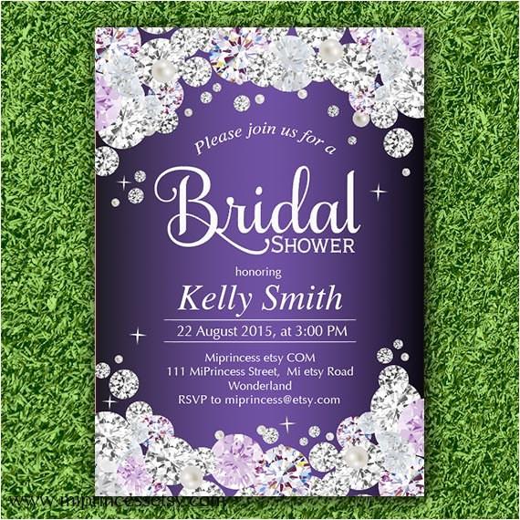 elegant bridal shower wedding invitation