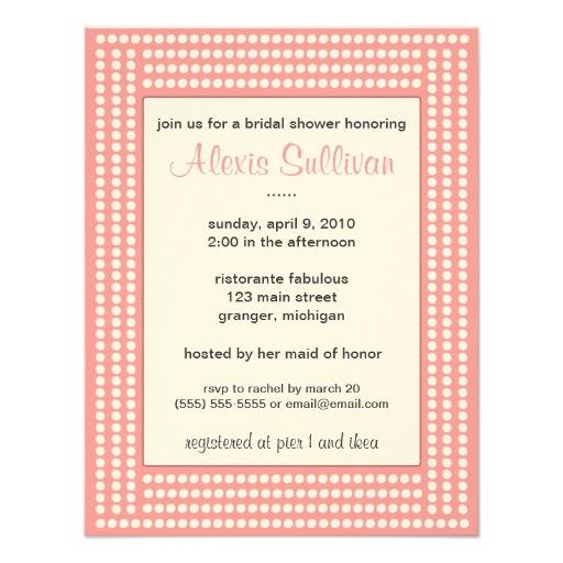 pink bling bridal shower invitations