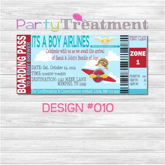 baby shower boarding pass invitation 010