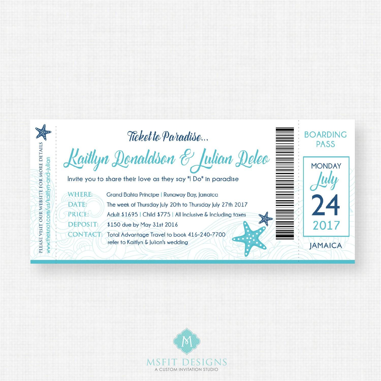 boarding pass invitation destination