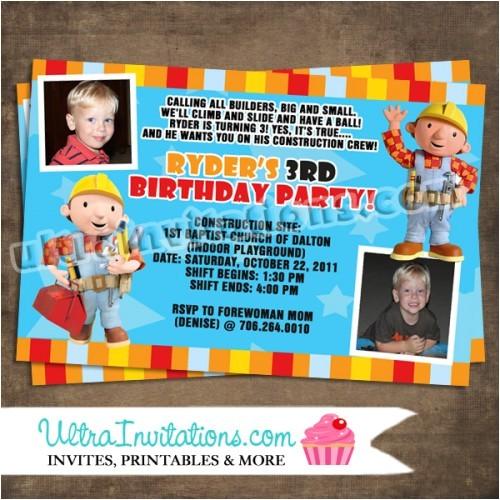 bob the builder invites custom