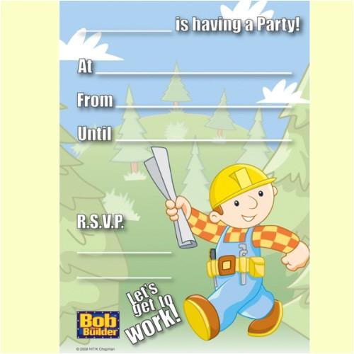 bob the builder party invitations