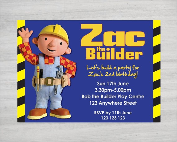 bob the builder birthday party