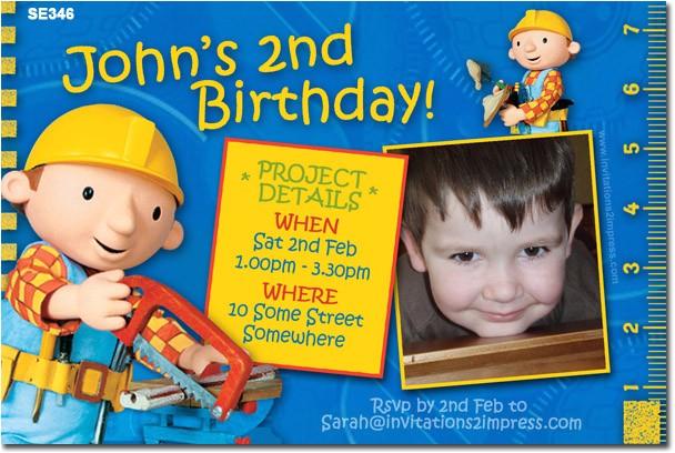 se346 themed birthday boy bob the builder