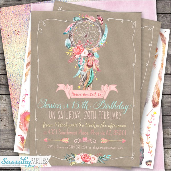 Boho Chic Party Invitation