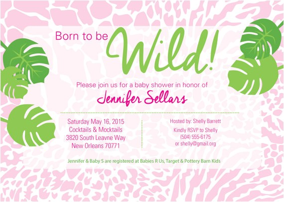 born to be wild baby shower invitation