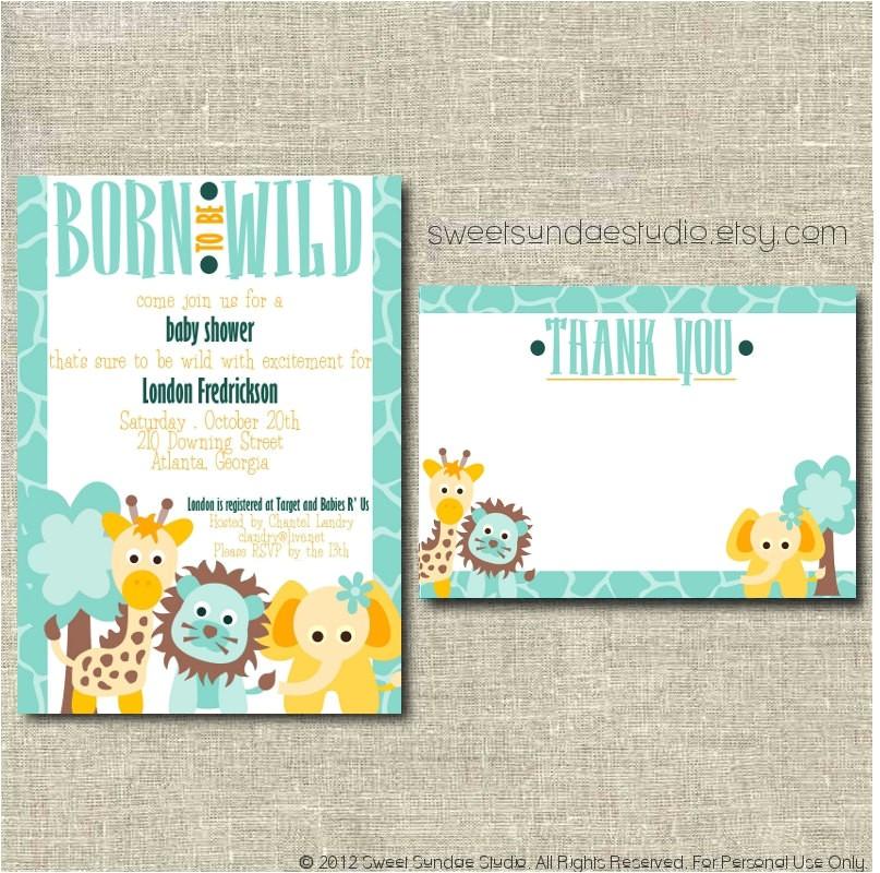printable baby shower invitation custom