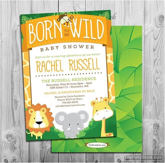 safari baby shower invitation printable decorations