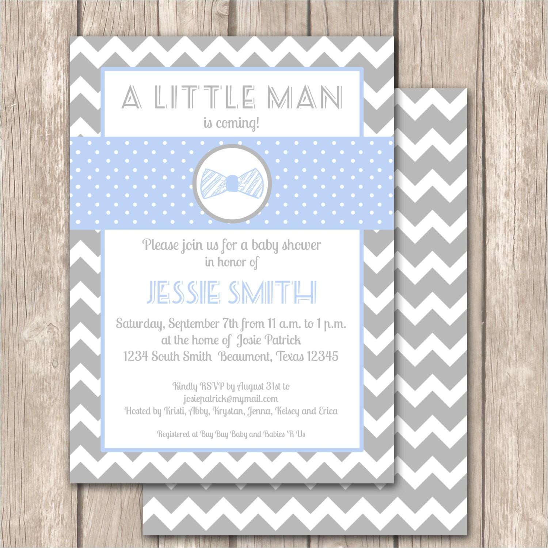 little man bow tie chevron baby shower