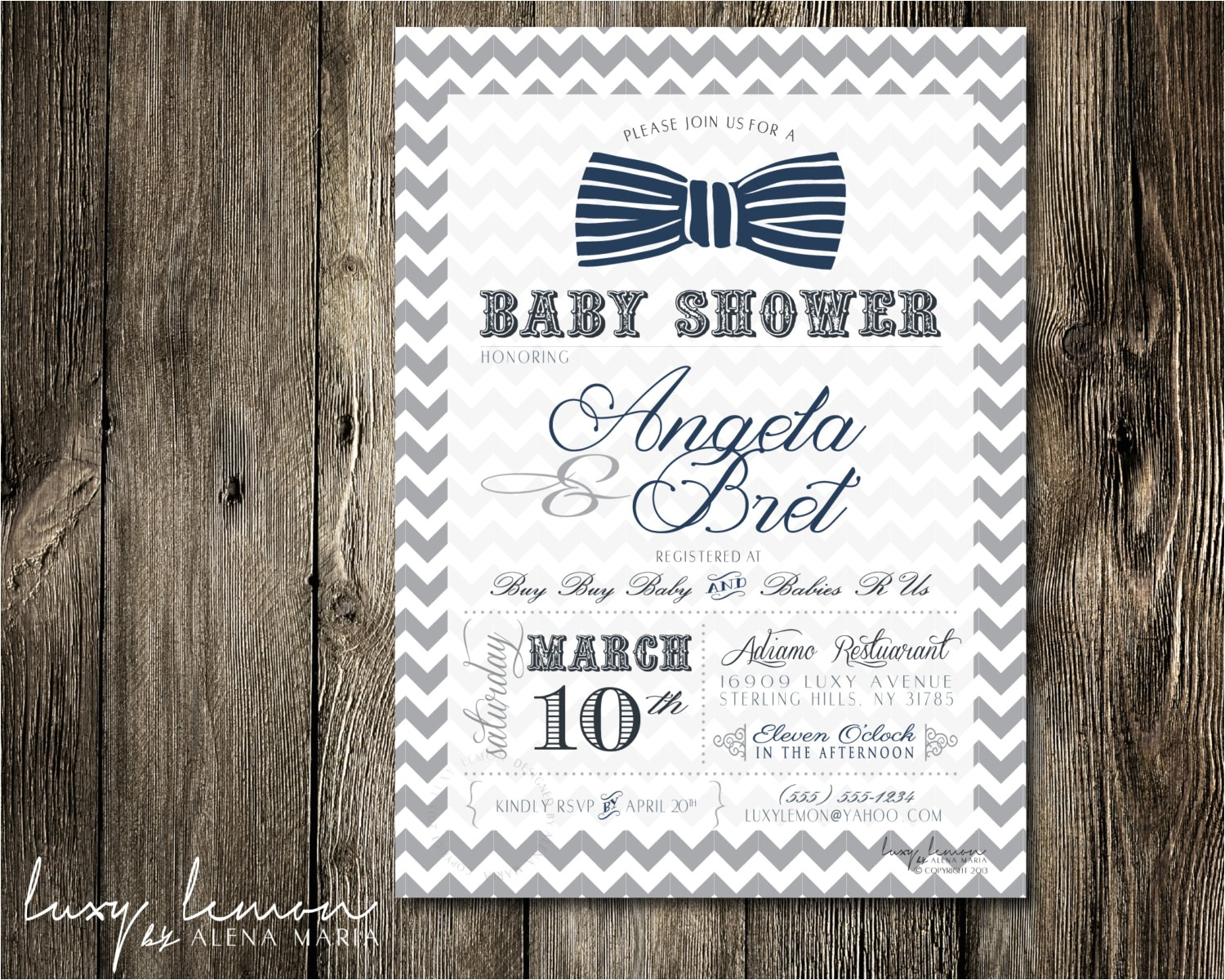 bow tie baby shower invitations