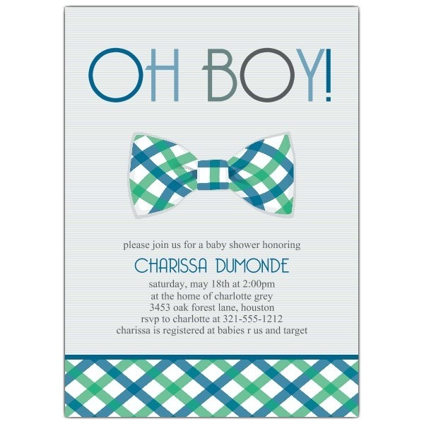 chic bow tie baby shower invitations designs