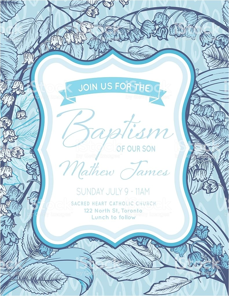 baby boy baptism or christening invitation template gm