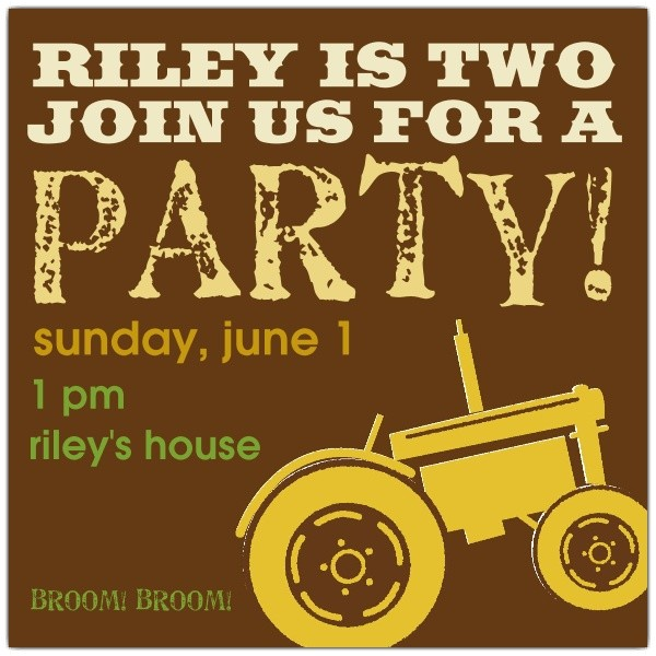Tractor Boy Birthday Invitations p 639 55 WD32