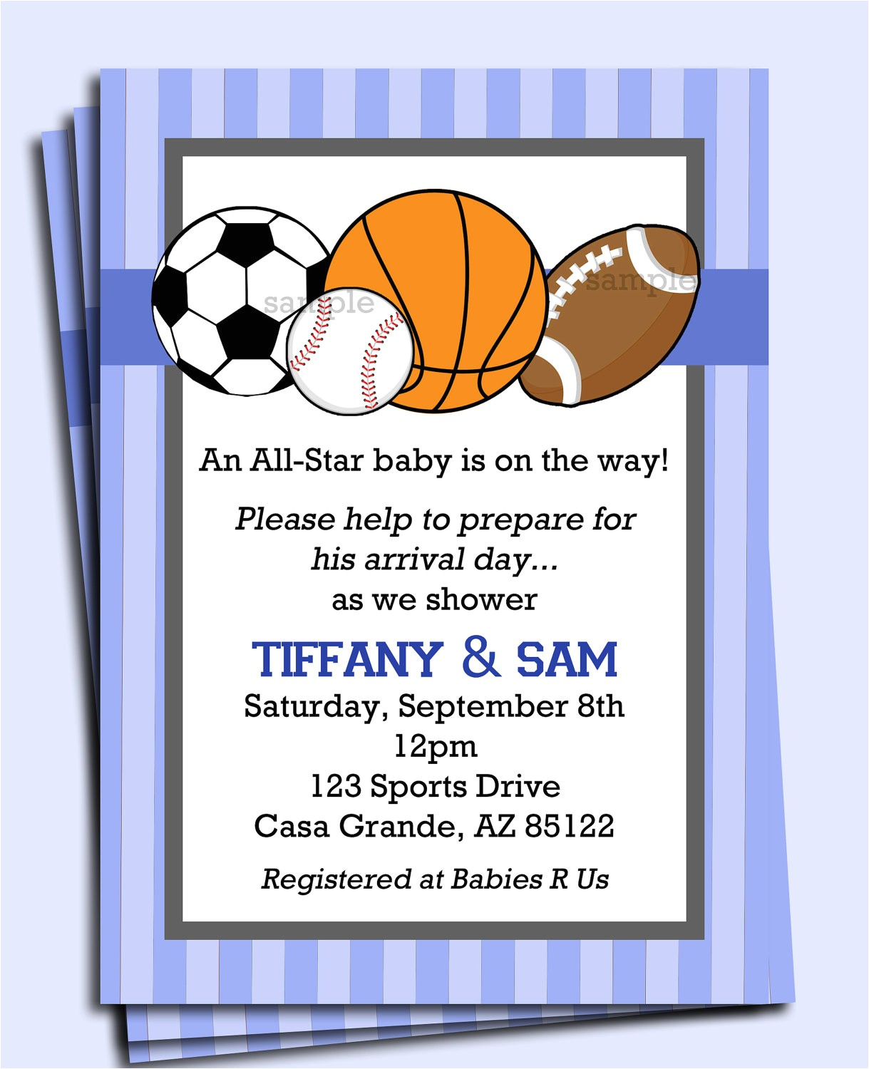 all star sports invitation printable or
