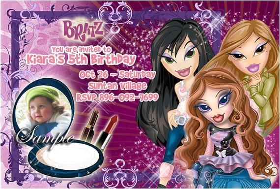 bratz invitations birthday invitations